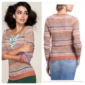 Anthro Sparrow Shimmered Fair Isle Sweater